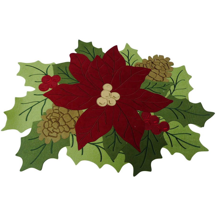Better Homes and Gardens Poinsettia Placemat, Set of 6 by