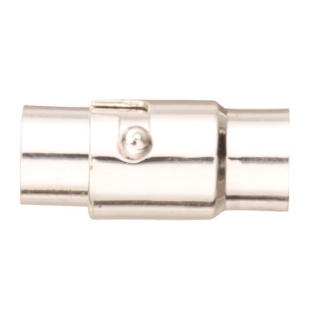 4pcs Locking Tube Magnetic Jewelry Clasps - Silver Plated Copper 8x17mm (Copper Crystal Clasps)