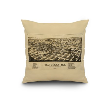 Map Of Quitman Ga.Quitman Georgia Panoramic Map 20x20 Spun Polyester Pillow Custom Border