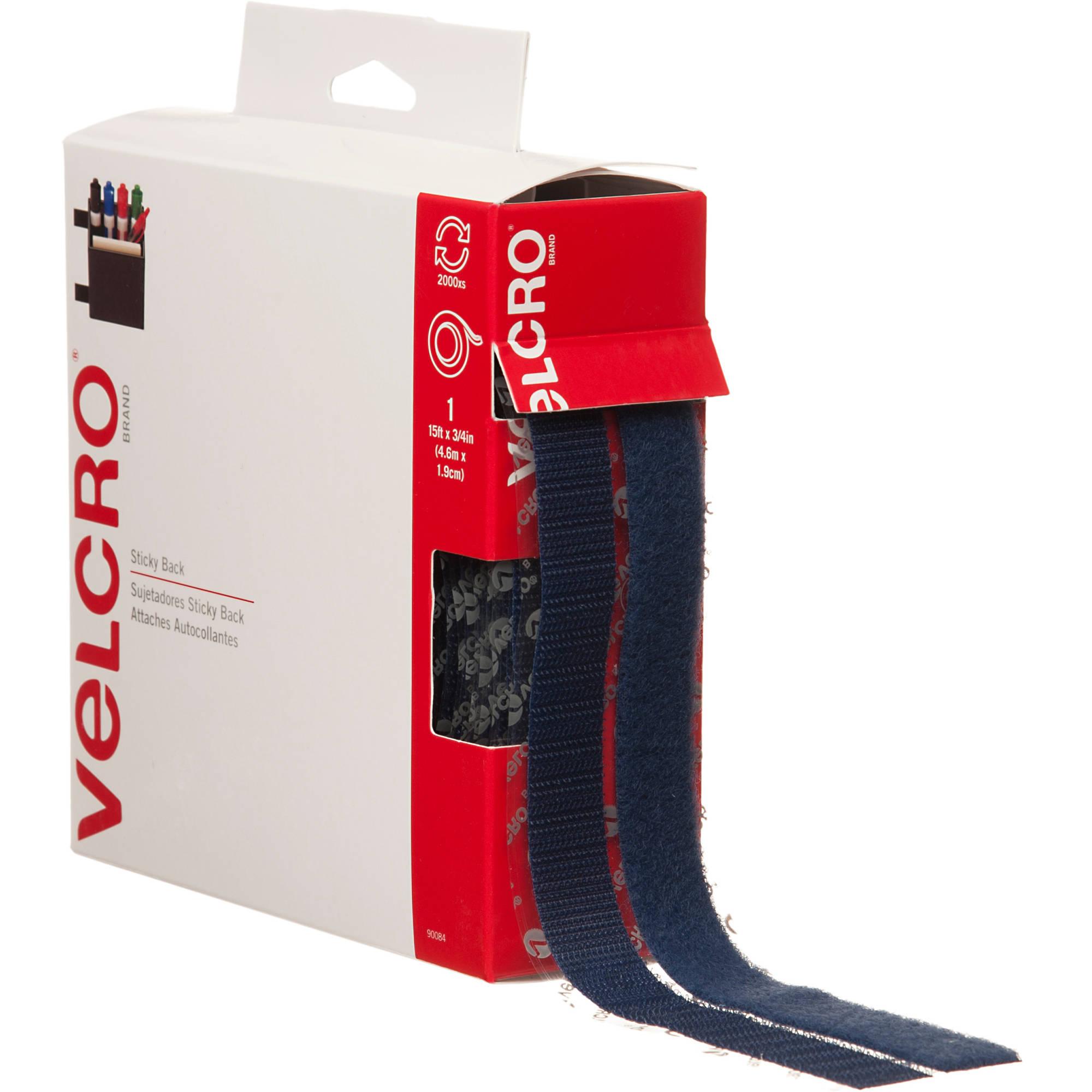 """Velcro Sticky Back Tape, 15' x 3/4"""", Navy"""