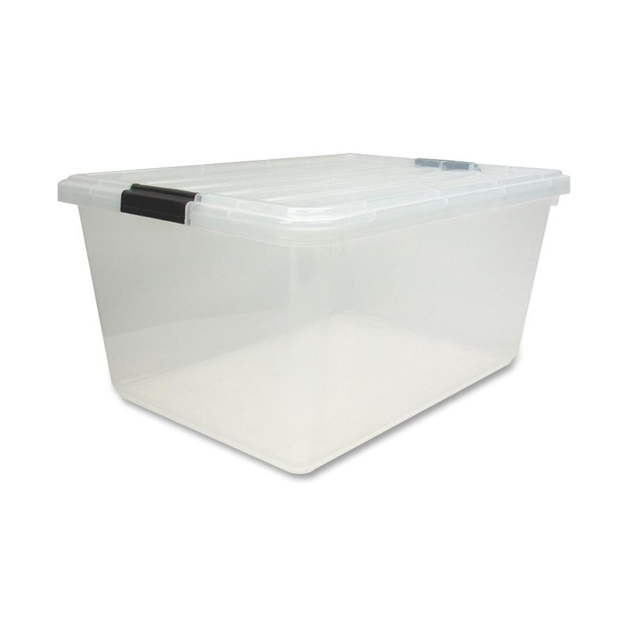Iris Clear Storage Boxes With Lids, Clear, 6 / Carton (Quantity)