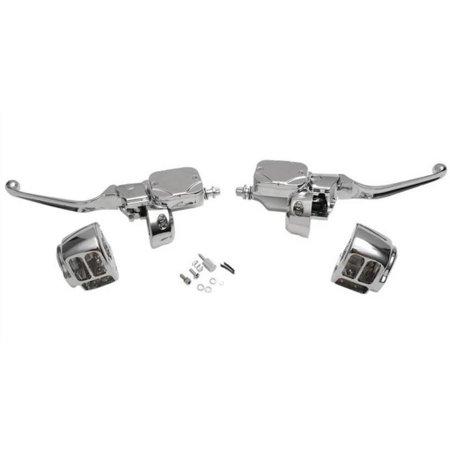 Drag Specialties 0610-0694 Handlebar Control Kit with Hydraulic Clutch - Dual Disc