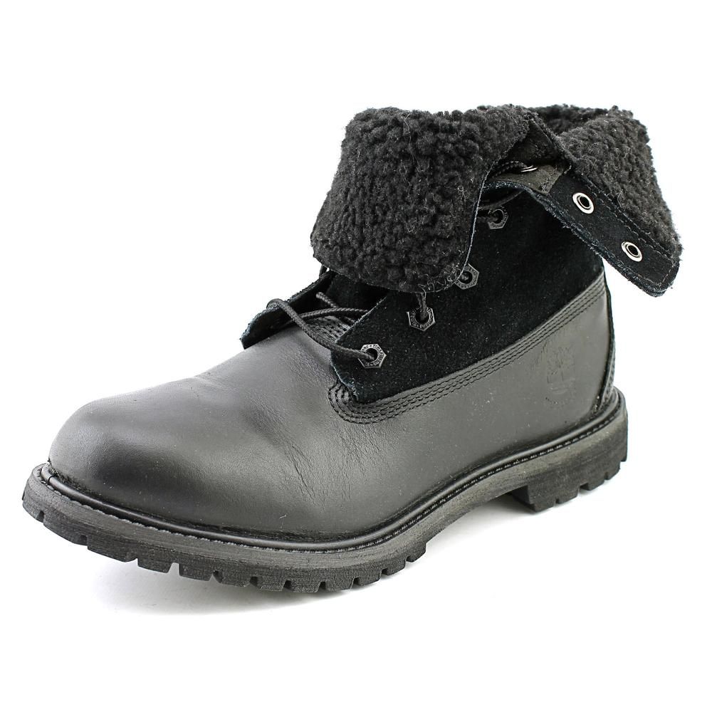Timberland Authentic Teddy Fleece Women  Round Toe Leathe...