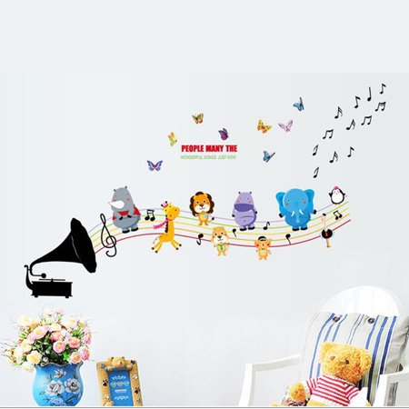 Wall Decoration Sticker Cartoon Wall Decals DIY Removable Wallpaper Children's Room Bedroom Kindergarten Classroom Layout Toddler Kids - image 1 de 8