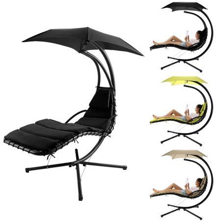 Hanging Chaise Lounger Chair Modern Design Swing Hammock Canopy Yard Garden Bett