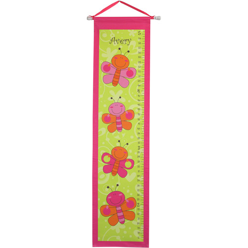 Personalized Butterflies Growth Chart