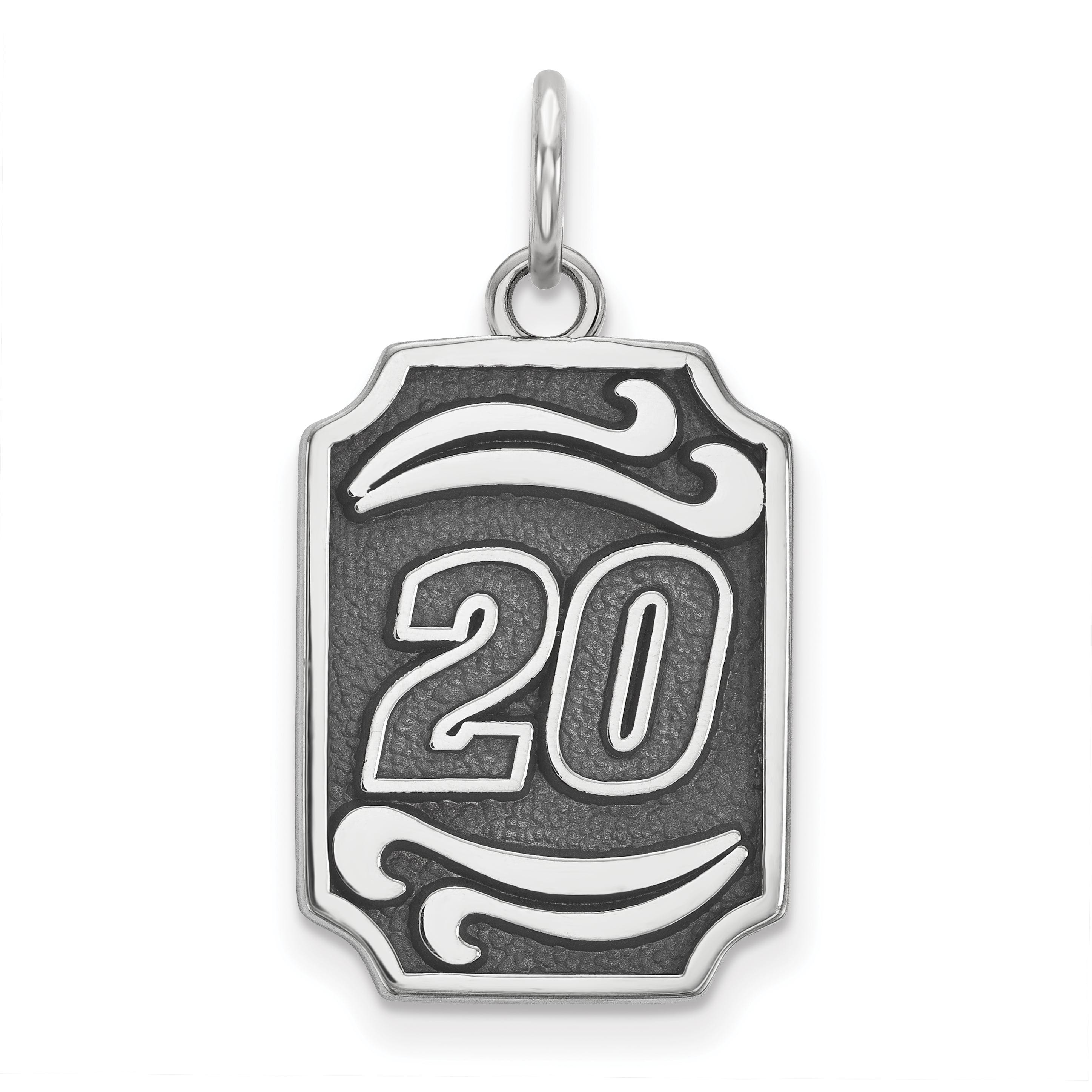 STERLING SILVER LogoArt Official Licensed NASCAR BALI TYPE VERTICAL PEND 20 MATT KENSETH