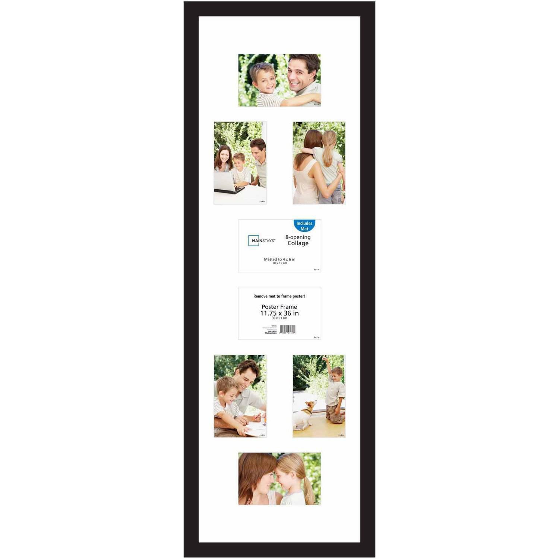 "Mainstays 24"" x 36"" Wide Walnut Poster Frame"
