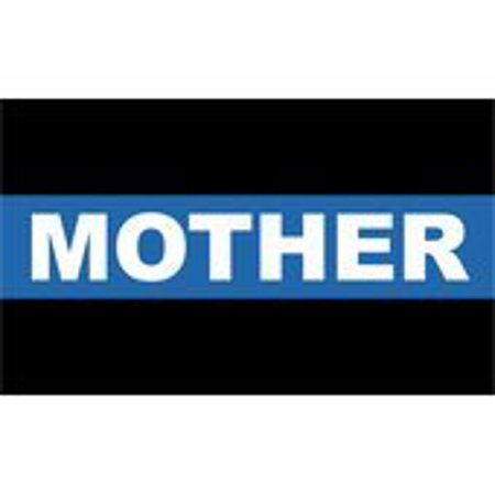 MAGNET Thin Blue Line Police Mother 5.5 Inch Magnetic Sticker Decal](Police Badge Stickers)