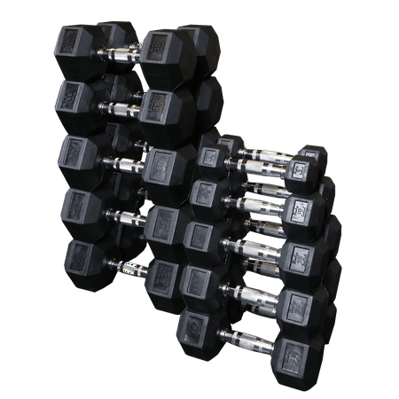 Body Solid SDRS550 Rubber Hex Dumbbell Set -