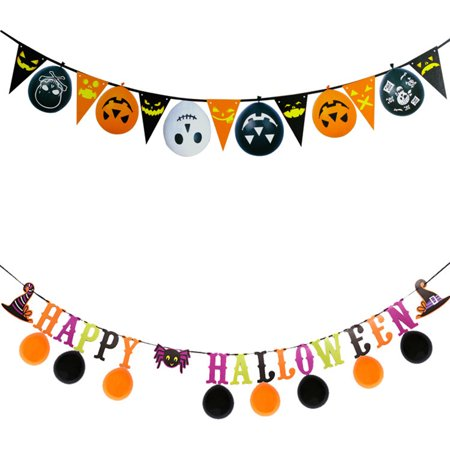 Boyijia String Bunting Flag Colorful Banner Home Pub Bar Garland 3 Meters Halloween Hanging Decoration - image 7 of 9