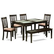 Kitchen tables with benches east west furniture caan6g cap c kitchen table with glass top table 4 workwithnaturefo