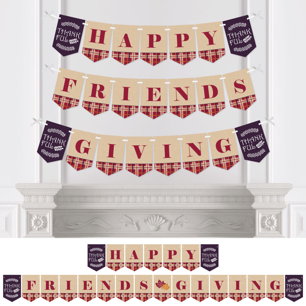 Friends Thanksgiving Feast Friendsgiving Party Bunting Banner Party Decorations Happy Friends Giving