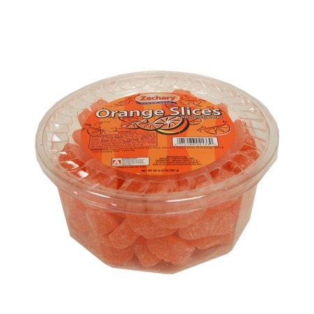(2 Pack) Zachary Orange Slices Jelly Candy, 2 lb - Orange Wrapper Halloween Candy