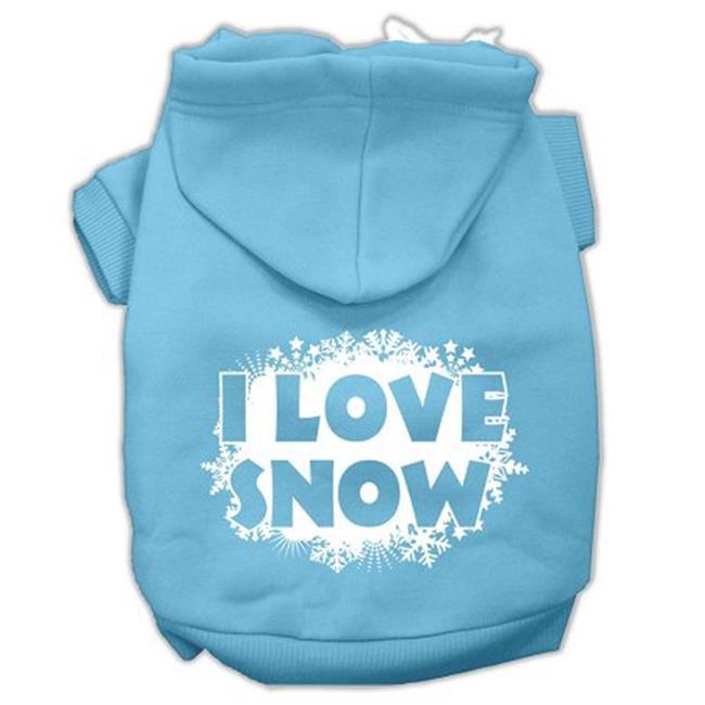 I Love Snow Screenprint Pet Hoodies Baby Blue Size Xxxl (20) - image 1 de 1