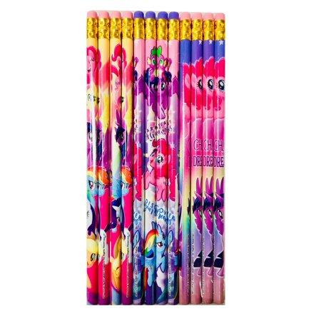 Hasbro My Little Pony Authentic Licensed 12 Wood Pencils Pack - My Little Pony Hasbro