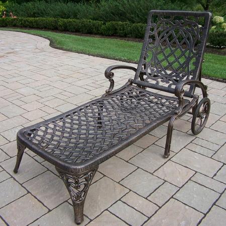 Oakland Living Mississippi Cast Aluminum Chaise - Cast Aluminum Lounge