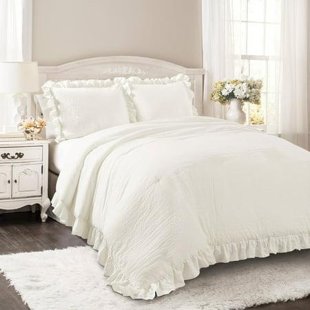 Reyna Comforter White 3Pc Set Full/Queen (Scottsdale Queen Comforter)