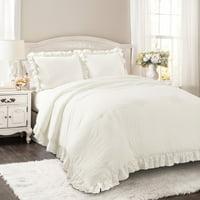 Reyna Comforter White 3Pc Set Full/Queen