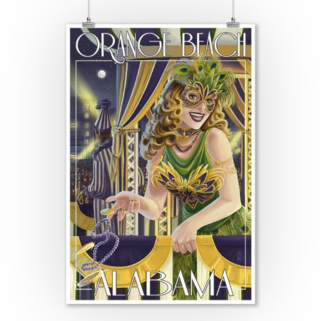 Orange Beach, Alabama - Mardi Gras  - Lantern Press Poster (9x12 Art Print, Wall Decor Travel Poster)