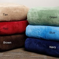 Ultra Soft Red Design King Size Microplush Blanket