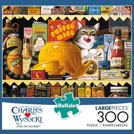 Buffalo Games - Charles Wysocki - Ethel the Gourmet - 300 Large Piece Jigsaw Puzzle - Large Puzzle