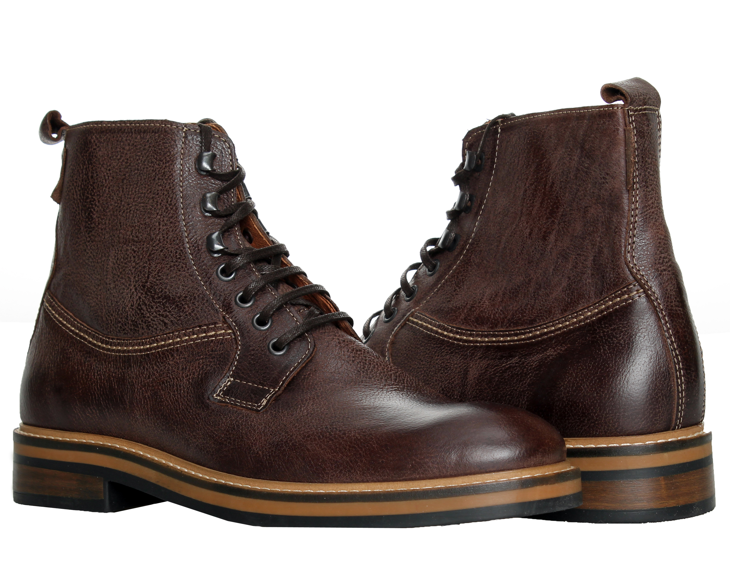 1883 by Wolverine Ramon Plain-Toe Brown Men's Boots W00771 by