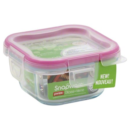 World Kitchen 1109305 1 Cup Glass Square With Plastic Lid Pack Of - Plastic Glasses With Lids