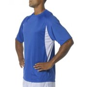 A4 Cooling Performance Color Block Short Sleeve Crew Royal/White 2X
