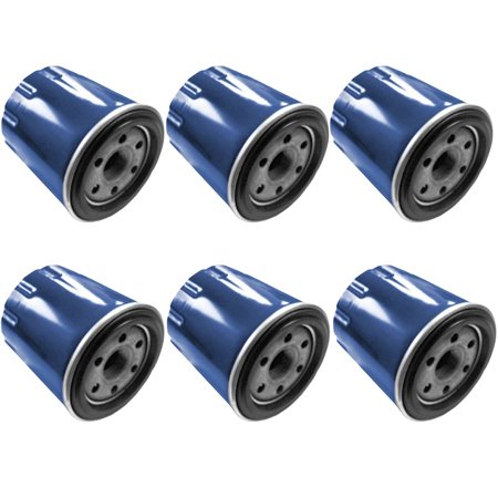 Set of 6 Oil Filters Cleaners FITS Honda GX620 20 HP V Twin Gas Engines ()