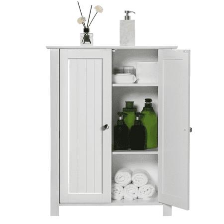 Yaheetech Shoe Cabinet Cabinet Wooden Free Standing Bathroom Storage Organizer White Wooden Shoe Cabinet
