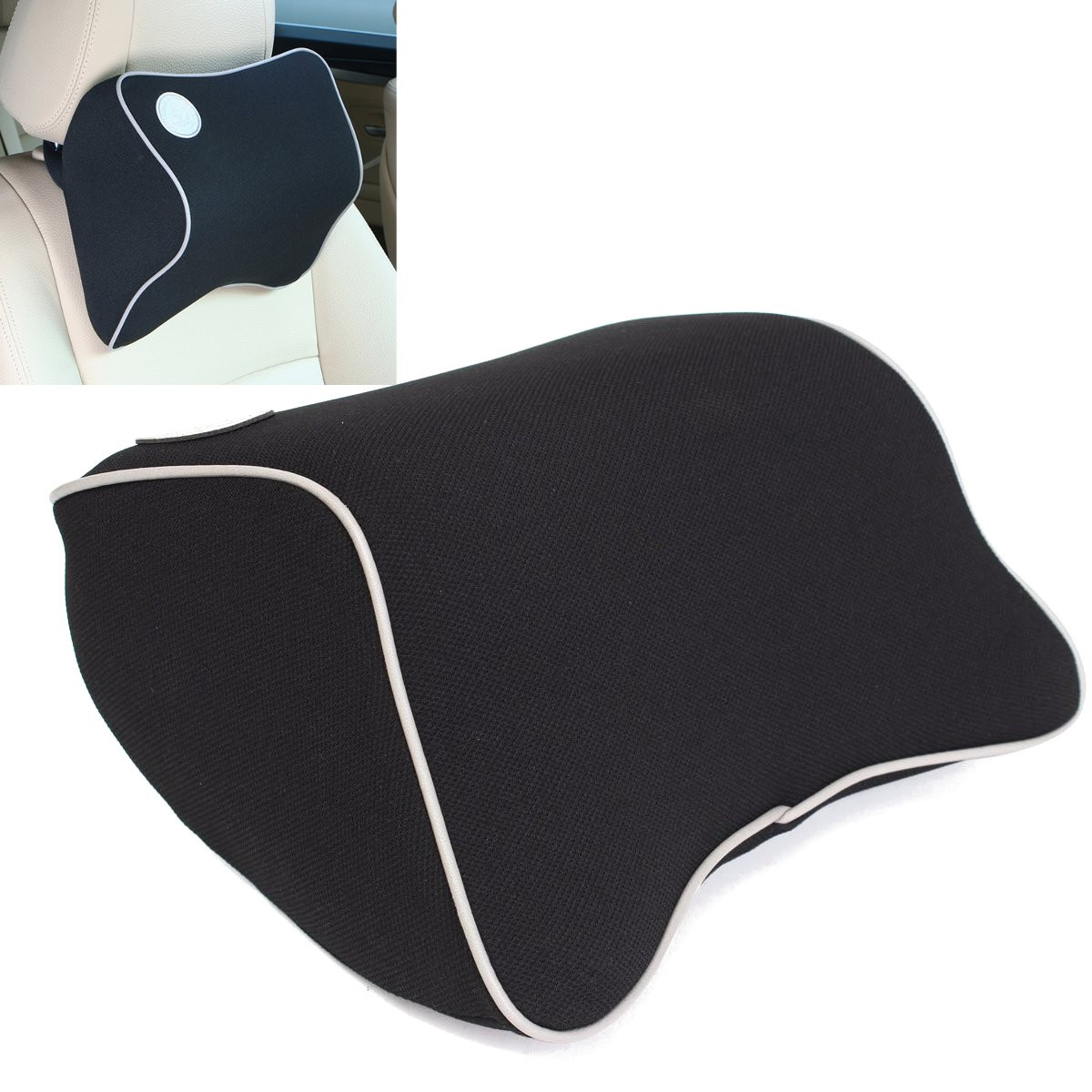 MOHOO Space Memory Foam Bone Shape Pillow Vehicle Car Seat ...