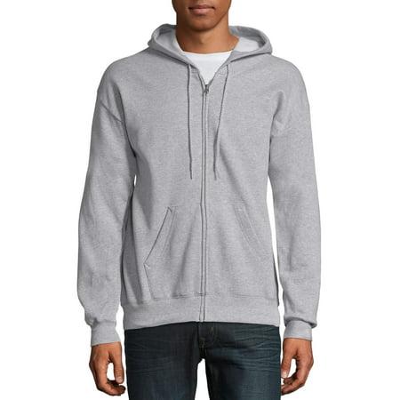 Hanes Men's and Big Men's Ecosmart Fleece Full Zip Hooded Jacket, up to Size 3XL Majestic Athletic Zip Front Jacket