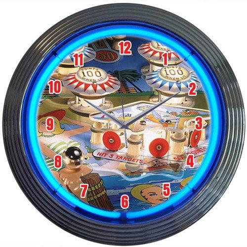 Neonetics Bar and Game Room 15'' Pinball Wall Clock