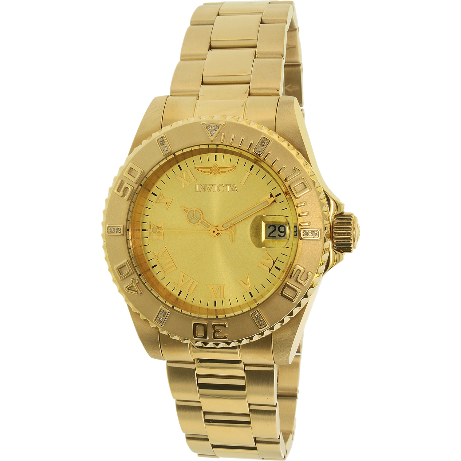 Invicta Men's Pro Diver 12820 Gold Stainless-Steel Quartz Dress Watch
