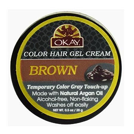 Okay Color Hair Gel, Brown, 0.5 Oz