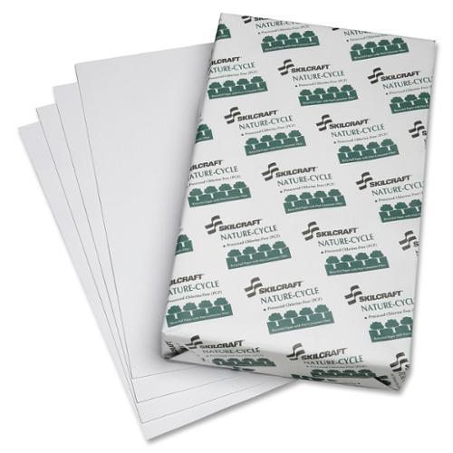 "Skilcraft Copy Paper - Legal - 8.50"" X 14"" - 20 Lb - Recycled - 84 Brightness - 1 - White (NSN5038449)"