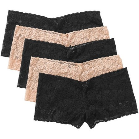 942419750aa3 No Boundaries - Juniors' Lace Cheeky Panty - 5 Pack - Walmart.com