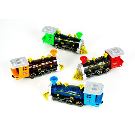 7 Inch Die Cast Pull Back Locomotive- Single Unit, ASSORTED COLORS By