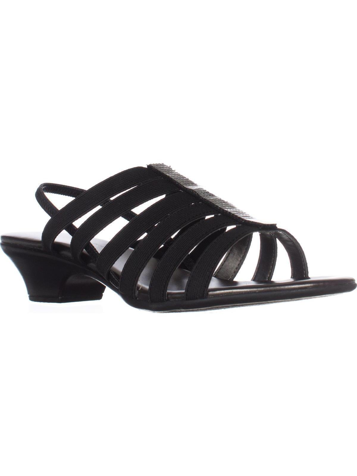 Womens KS35 Estevee Strappy Slingback Sandals, Black