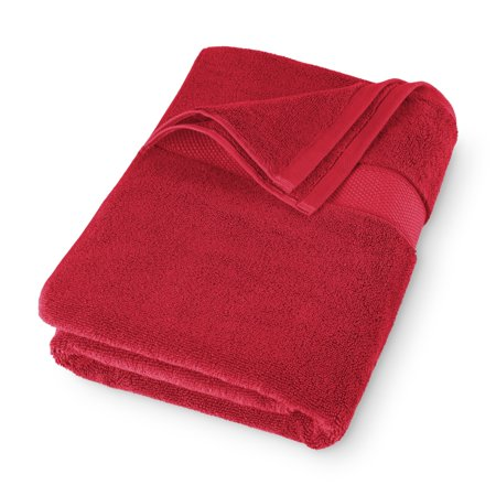 Hotel Style Luxurious Cotton Bath Towel, Dark Red