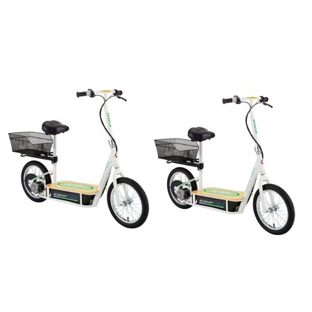 Scooter With Seat >> Razor Ecosmart Metro Electric Economical Green Scooter With Seat