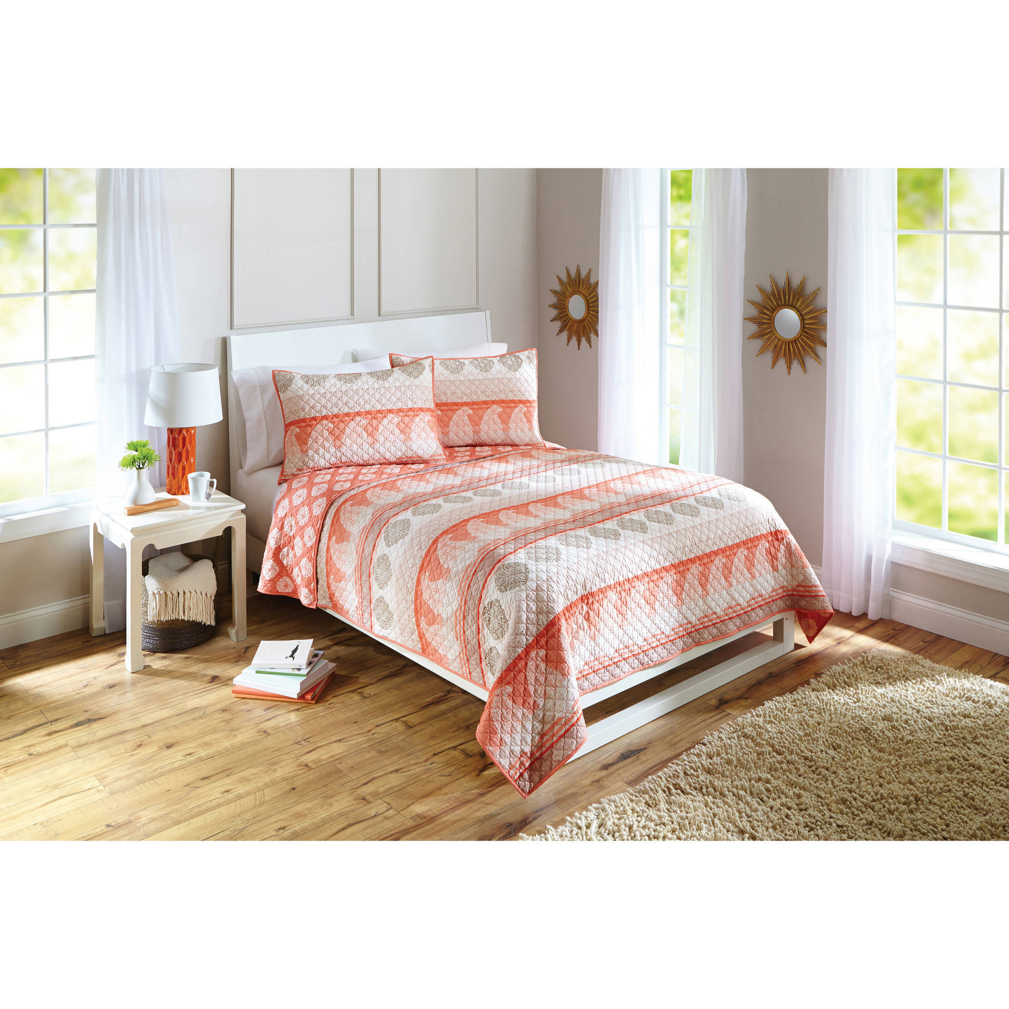 Better Homes and Gardens Paisley Stripe Quilt by Keeco, LLC
