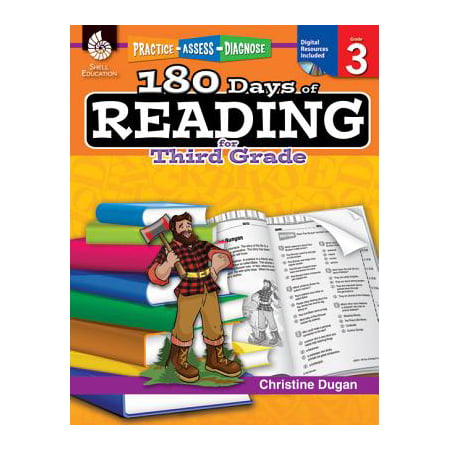180 Days of Reading for Third Grade (Grade 3) : Practice, Assess, Diagnose](Halloween Songs For 3rd Graders)