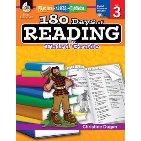 180 Days of Reading for Third Grade (Grade 3) : Practice, Assess, Diagnose - Reading Comprehension 3rd Grade