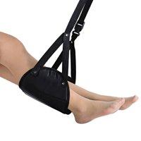 Reactionnx Portable Travel Footrest Flight Carry-On Foot Rest, Under Desk Footrest Adjustable Height Foot Hammock Travel Accessories