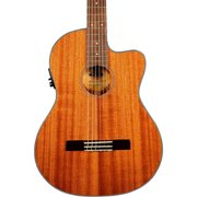 Kala KA-GTR-MTN-E Thinline Mahogany Nylon String Acoustic-Electric Guitar Natural