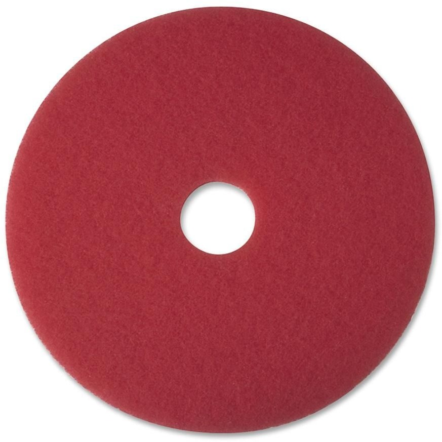 3M Red Buffer Pad 5100, Red, 5 / Carton (Quantity)