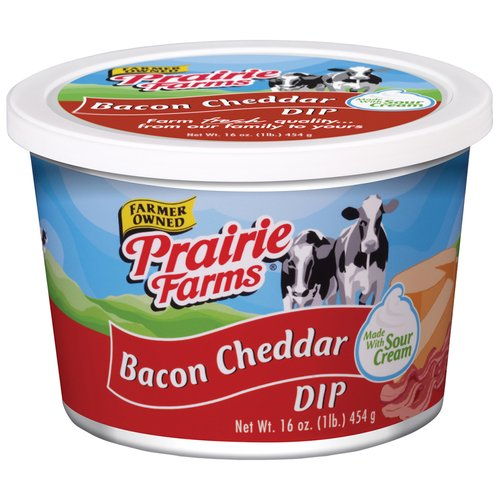 Prairie Farms Farmer Owned Sour Cream Bacon Cheddar Dip, 16 Oz.