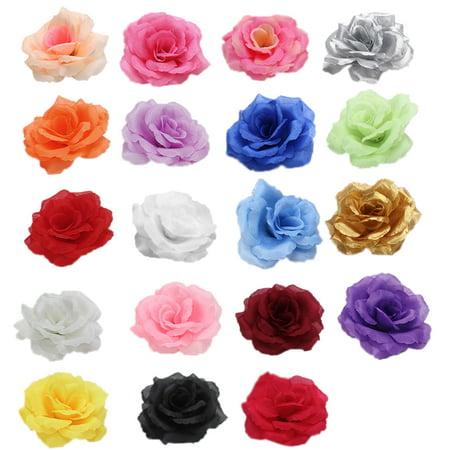 Silk Flowers Wholesale 5PCS Artificial Silk Rose Heads Bulk Flowers 8cm For Flower Wall Kissing Balls Wedding Supplies, Mixed Color